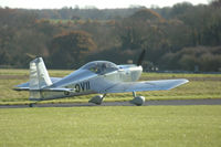 Bob & I taxi for runway 25 at Thruxton
